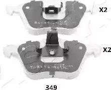 Ashika 50-03-349 - Piduriklotsi komplekt,ketaspidur multiparts.ee