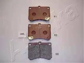 Ashika 50-03-342 - Piduriklotsi komplekt,ketaspidur multiparts.ee
