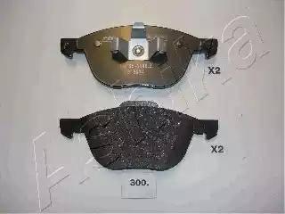 Ashika 50-03-300 - Piduriklotsi komplekt,ketaspidur multiparts.ee