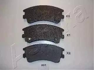 Ashika 50-03-307 - Piduriklotsi komplekt,ketaspidur multiparts.ee