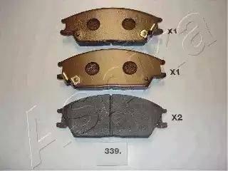 Ashika 50-03-339 - Piduriklotsi komplekt,ketaspidur multiparts.ee