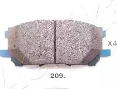 Ashika 50-02-209 - Piduriklotsi komplekt,ketaspidur multiparts.ee