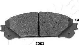 Ashika 50-02-2001 - Piduriklotsi komplekt,ketaspidur multiparts.ee