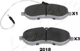 Ashika 50-02-2018 - Piduriklotsi komplekt,ketaspidur multiparts.ee