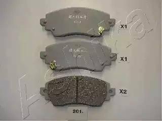Ashika 50-02-201 - Piduriklotsi komplekt,ketaspidur multiparts.ee
