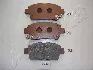 Ashika 50-02-203 - Piduriklotsi komplekt,ketaspidur multiparts.ee