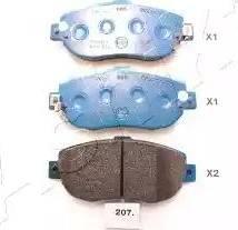 Ashika 50-02-207 - Piduriklotsi komplekt,ketaspidur multiparts.ee