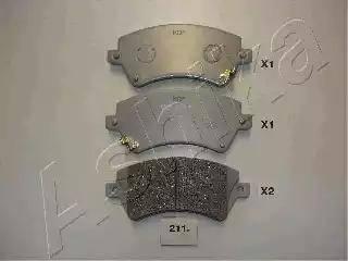 Ashika 50-02-211 - Piduriklotsi komplekt,ketaspidur multiparts.ee