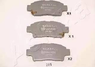 Ashika 50-02-281 - Piduriklotsi komplekt,ketaspidur multiparts.ee