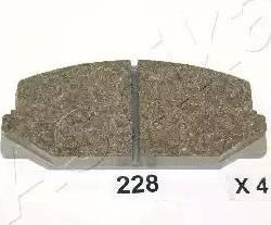 Ashika 50-02-228 - Piduriklotsi komplekt,ketaspidur multiparts.ee