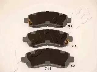 Ashika 50-07-711 - Piduriklotsi komplekt,ketaspidur multiparts.ee