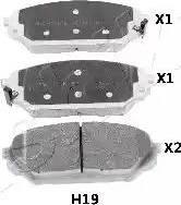 Ashika 50-0H-H19 - Piduriklotsi komplekt,ketaspidur multiparts.ee