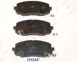 Ashika 50-0H-H12 - Piduriklotsi komplekt,ketaspidur multiparts.ee