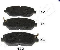 Ashika 50-0H-H22 - Piduriklotsi komplekt,ketaspidur multiparts.ee