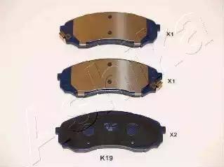 Ashika 50-0K-019 - Piduriklotsi komplekt,ketaspidur multiparts.ee
