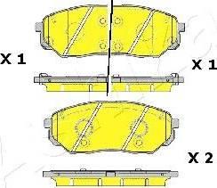 Ashika 50-0K-K30 - Piduriklotsi komplekt,ketaspidur multiparts.ee
