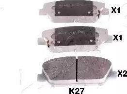 Ashika 50-0K-K27 - Piduriklotsi komplekt,ketaspidur multiparts.ee