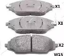 Ashika 50-0W-W15 - Piduriklotsi komplekt,ketaspidur multiparts.ee