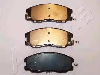 Ashika 50-0W-W10 - Piduriklotsi komplekt,ketaspidur multiparts.ee