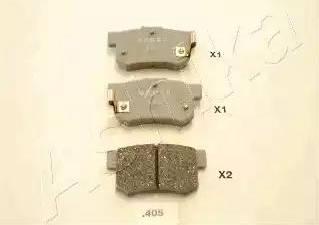Ashika 51-04-405 - Piduriklotsi komplekt,ketaspidur multiparts.ee