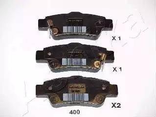 Ashika 51-04-400 - Piduriklotsi komplekt,ketaspidur multiparts.ee