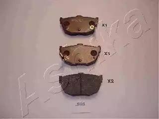 Ashika 51-05-595 - Piduriklotsi komplekt,ketaspidur multiparts.ee