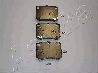 Ashika 51-05-592 - Piduriklotsi komplekt,ketaspidur multiparts.ee