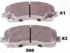 Ashika 51-05-509 - Piduriklotsi komplekt,ketaspidur multiparts.ee