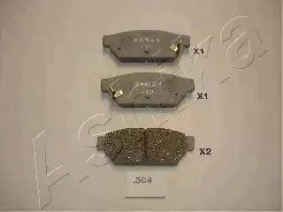 Ashika 51-05-504 - Piduriklotsi komplekt,ketaspidur multiparts.ee