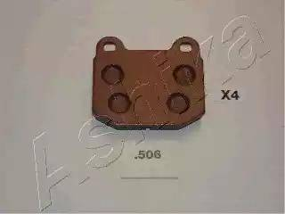 Ashika 51-05-506 - Piduriklotsi komplekt,ketaspidur multiparts.ee
