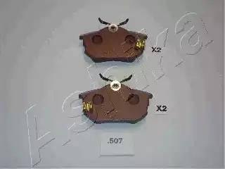 Ashika 51-05-507 - Piduriklotsi komplekt,ketaspidur multiparts.ee