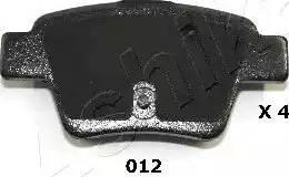 Ashika 51-00-012 - Piduriklotsi komplekt,ketaspidur multiparts.ee