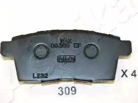 Ashika 51-03-309 - Piduriklotsi komplekt,ketaspidur multiparts.ee