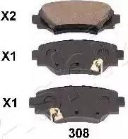 Ashika 51-03-308 - Piduriklotsi komplekt,ketaspidur multiparts.ee