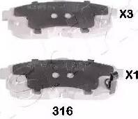 Ashika 51-03-316 - Piduriklotsi komplekt,ketaspidur multiparts.ee