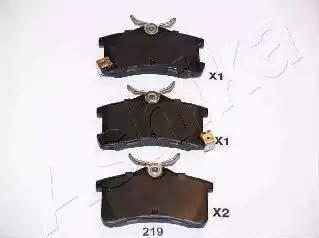 Ashika 51-02-219 - Piduriklotsi komplekt,ketaspidur multiparts.ee