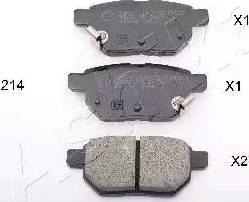 Ashika 51-02-214 - Piduriklotsi komplekt,ketaspidur multiparts.ee