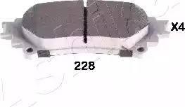 Ashika 51-02-228 - Piduriklotsi komplekt,ketaspidur multiparts.ee