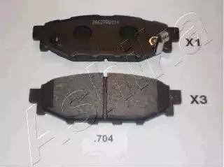 Ashika 51-07-704 - Piduriklotsi komplekt,ketaspidur multiparts.ee
