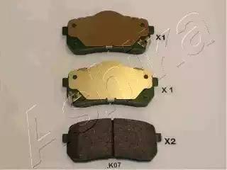 Ashika 51-0K-K07 - Piduriklotsi komplekt,ketaspidur multiparts.ee
