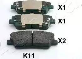 Ashika 51-0K-K11 - Piduriklotsi komplekt,ketaspidur multiparts.ee