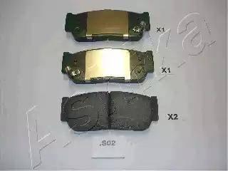 Ashika 51-0S-S02 - Piduriklotsi komplekt,ketaspidur multiparts.ee