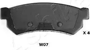 Ashika 51-0W-W07 - Piduriklotsi komplekt,ketaspidur multiparts.ee