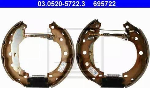 ATE 03.0520-5722.3 - Piduriklotside komplekt multiparts.ee