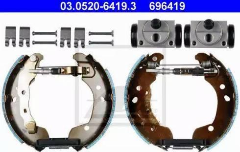 ATE 03.0520-6419.3 - Piduriklotside komplekt multiparts.ee