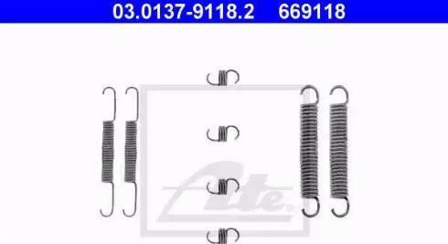 ATE 03.0137-9118.2 - Lisakomplekt, Piduriklotsid multiparts.ee