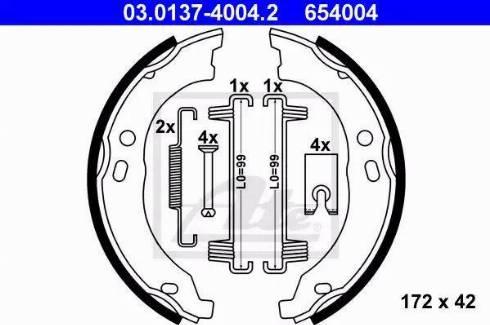 ATE 03.0137-4004.2 - Piduriklotside komplekt,seisupidur multiparts.ee