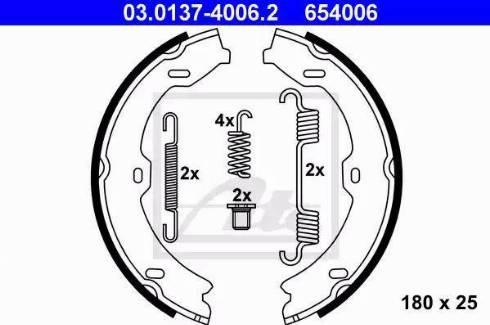 ATE 03.0137-4006.2 - Piduriklotside komplekt,seisupidur multiparts.ee