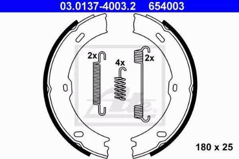 ATE 03.0137-4003.2 - Piduriklotside komplekt,seisupidur multiparts.ee