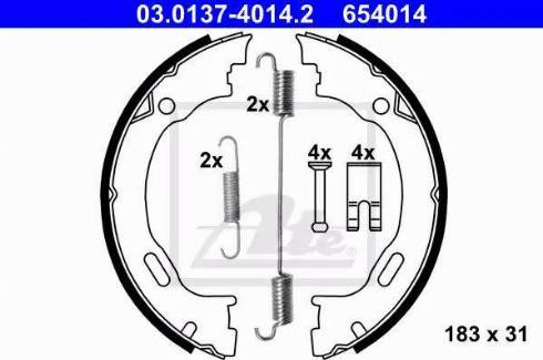 ATE 03.0137-4014.2 - Piduriklotside komplekt,seisupidur multiparts.ee